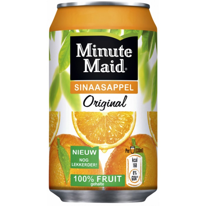 Frisdrank Minute Maid Orange blikje 0.33l