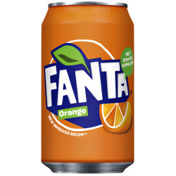 Frisdrank Fanta Orange blikje 0.33l