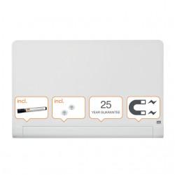 Glasbord Nobo Impression Pro afgeronde hoeken 1000x560mm briljant wit