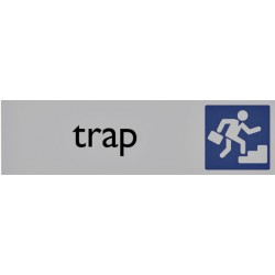 Infobord pictogram trap 165x44mm
