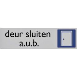 Infobord pictogram deur sluiten 165x44mm