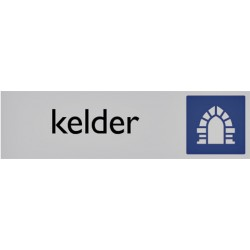 Infobord pictogram kelder 165x44mm