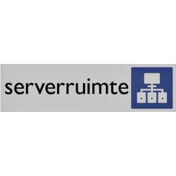 Infobord pictogram serverruimte 165x44mm