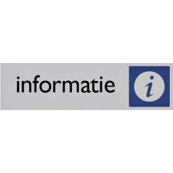 Infobord pictogram informatie 165x44mm