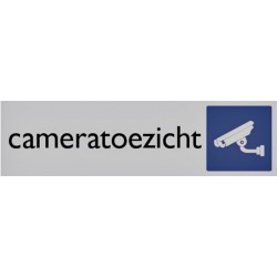 Infobord pictogram cameratoezicht 165x44mm