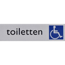 Infobord pictogram toilet rolstoel 165x44mm