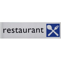 Infobord pictogram restaurant 165x44mm