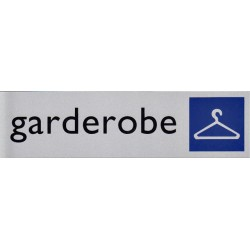 Infobord pictogram garderobe 165x44mm