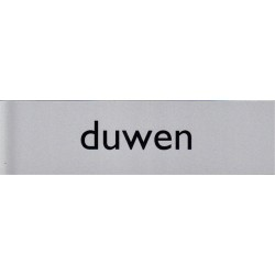Infobord pictogram duwen 165x44mm