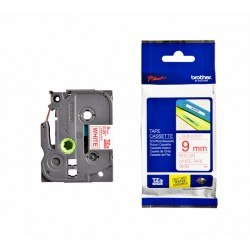 Labeltape Brother P-touch TZE-222 9mm rood op wit