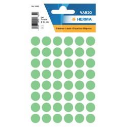 Etiket Herma 1865 rond 12mm groen 240stuks