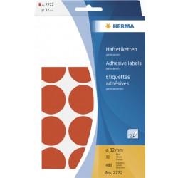Etiket Herma 2272 rond 32mm rood 480stuks