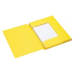 Dossiermap Jalema Secolor A4 3 kleppen 225gr geel