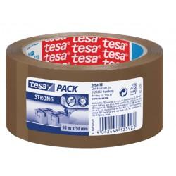 Verpakkingstape Tesa 50mmx66m bruin PP