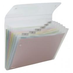 Sorteermap Rexel Ice 6-vaks transparant