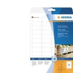 Etiket Herma power 10902 45.7x21.2mm wit 1200stuks