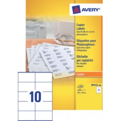 Etiket Avery DP010-100 105x58mm wit 1000Stuks