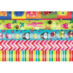 Inpakpapier Haza 70x200cm kids colours assorti