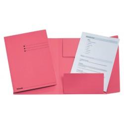 Dossiermap Esselte A4 3 kleppen manilla 275gr roze