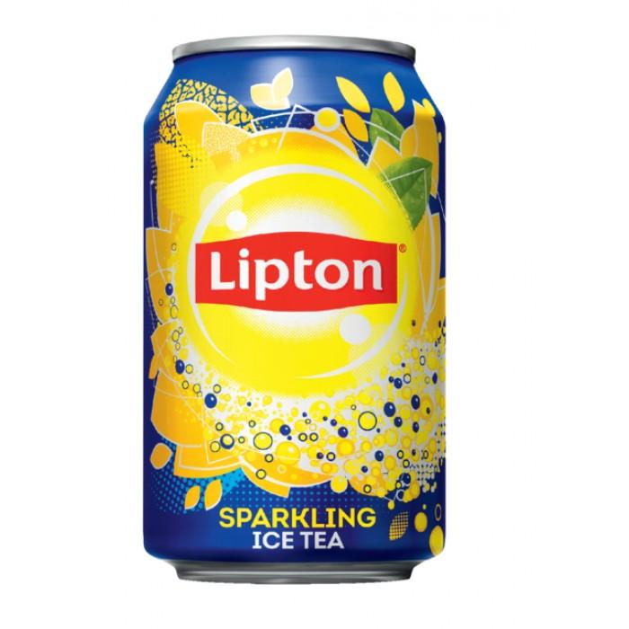 Frisdrank Lipton Ice Tea Sparkling blikje 0.33l