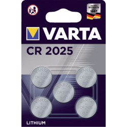 Batterij Varta knoopcel CR2025 lithium blister à 5stuk