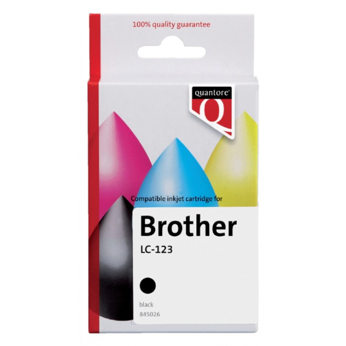 Inktcartridge Quantore Brother LC-123 zwart