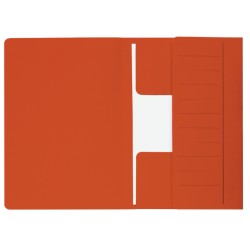 Dossiermap Secolor  Mammoet folio 3 kleppen 270gr rood