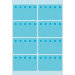 Etiket Herma 3773 26x40mm diepvries blauw 48stuks