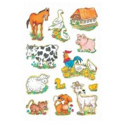 Etiket Herma 5419 boerderij dieren
