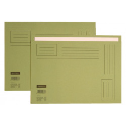 Vouwmap Quantore A4 ongelijke zijde 250gr groen