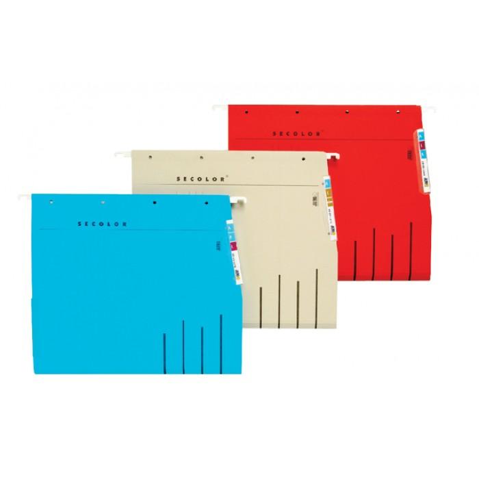 Hangmap Secolor lateraal voor legbord blauw