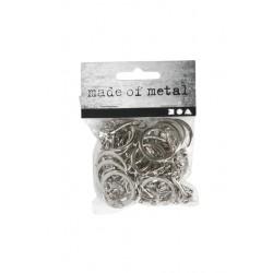 Sleutelhanger Creotime 23mm zilver