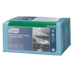 Reinigingsdoek Tork W8 194450 gevouwen blauw 40vel