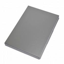 Klembordkoffer MAUL Assist A4 staand zijopening aluminium