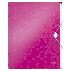 Sorteermap Leitz WOW PP 6-delig roze