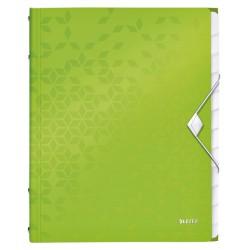 Sorteermap Leitz WOW 12-delig PP groen