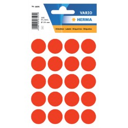 Etiket Herma 1876 rond 19mm fluor rood 100stuks