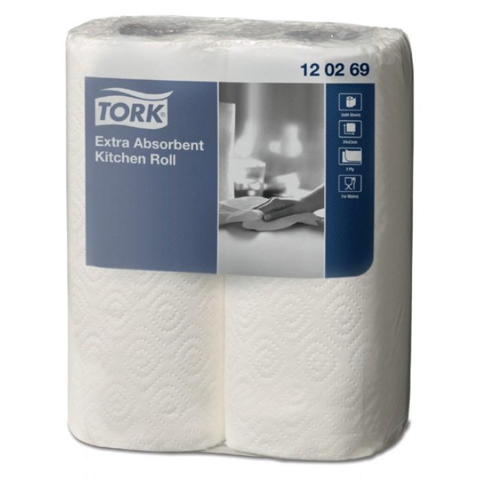 Keukenrol Tork 120269 extra absorberend 2laags 23cm 2rollen
