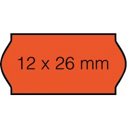 Prijsetiket 12x26mm Open-Data C6 permanent fluor rood