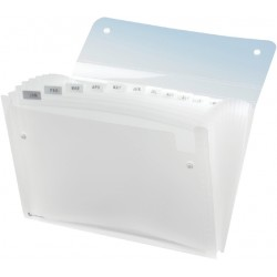 Sorteermap Rexel Ice 13-vaks transparant