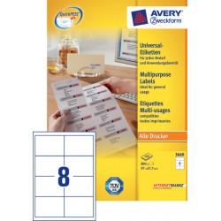 Etiket Avery Zweckform 3660 97x67.7mm wit 800stuks