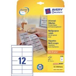 Etiket Avery Zweckform 4781 97x42.3mm wit 300stuks