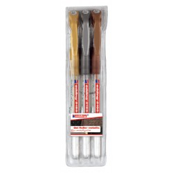Gelschrijver edding 2185 assorti etui  à 3 kleuren (053-055)