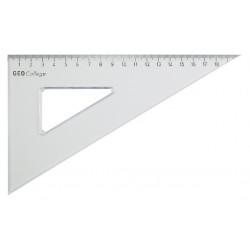Driehoek Aristo 200mm 30/60graden transparant