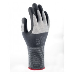 Handschoen Showa 381 grip nitril grijs 7/small