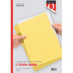 Insteekmap L-model Quantore A4 PP 0.12mm geel 25 stuks