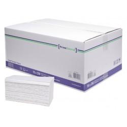 Handdoek PrimeSource Midi zigzag 2laags 23x25cm wit 15x250st