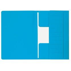 Dossiermap Secolor  Mammoet folio 3 kleppen 270gr blauw