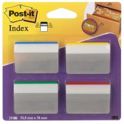 Indextabs 3M Post-it 686A1 strong 50mm 4 kleuren