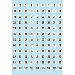 Etiket Herma 4128 8mm getallen 1-540 540stuks